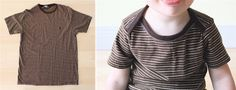 Use existing clothes to make tees and pants for kids. Great tutorial for making your own basic pattern(s)