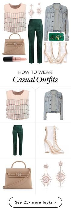 """""""Casual Second Date"""" by mexie on Polyvore featuring Alexis, Rosie Assoulin, rag & bone, Alexander Wang, Dolce&Gabbana, MAC Cosmetics and Anne Sisteron"""