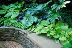 Rethink Your Seating Area  This seating area is tucked into an alcove in a lower portion of the garden. Surrounded by green foliage the sto...