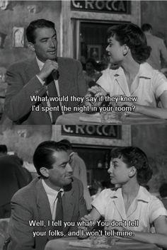 Roman holiday. My favorite Audrey movie