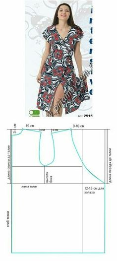 Amazing Sewing Patterns Clone Your Clothes Ideas. Enchanting Sewing Patterns Clone Your Clothes Ideas. Dress Sewing Patterns, Sewing Patterns Free, Sewing Tutorials, Clothing Patterns, Sewing Projects, Diy Clothing, Sewing Clothes, Diy Dress, Wrap Dress