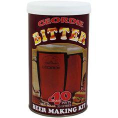 Geordie Bitter beer  kit pack of 2 cans  homebrew by Homebrew2u