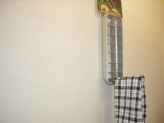 repurposed metal ice cube tray TOWEL RACK by AgoVintage on Etsy, $10.50