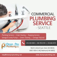 At Drain pro Plumbing services, we make sure our customer is our priority. You will find fast responses and faster services, which is why we are one of the best in the business. Plumbing Drains, Commercial Plumbing, Plumbing Emergency, Clock, Good Things, How To Plan, Business, Watch, Clocks