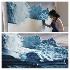 "Greenland"" drawing by Zaria Forman."