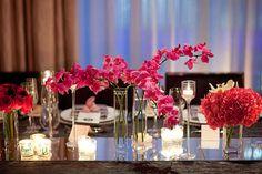 pink modern table setting
