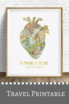 I love this quote and this super affordable travel printable! I need this in my life! #ad #travel