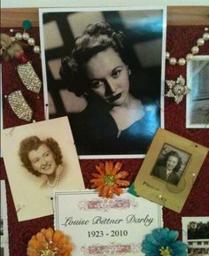 Memory Board for Mom....Love this. I'm going to try & do one of these!