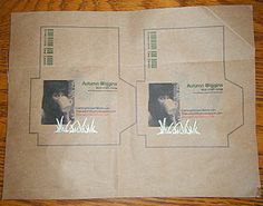 Printed Seed Packets, make your own seed packets for saved seeds.