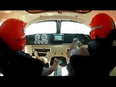 In the cockpit of the STIHL Super Boat at the race in Cocoa Beach