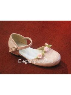 Pink Mary-Jane Flats with Rosettes for Flower Girl! ABSOLUTELY PERFECT!!!! <3 <3