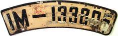 ☺ Germany 1936-39 Nordhausen Motorcycle License Plate | IM = Provinz-Sachsen 1906-45  Location:        Western Europe Capital:  Berlin History:   In 1949 the country was split into the Federal Republic of Germany (West Germany) and the German Democratic Republic (East Germany). East Germany joined West Germany 1990. Member of the European Union.