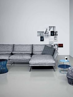 Upholstered #sofa with chaise longue New York Soft Collection by Saba Italia | #design Sergio Bicego