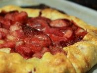 A recipe for a rhubarb strawberry galette from HGTV Gardens