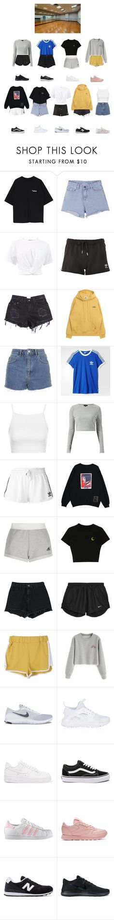 """""""BANGBANG """"TT"""" — Dance Practice"""" by bbofficial ❤ liked on Polyvore featuring Pink Stitch, T By Alexander Wang, adidas, Topshop, adidas Originals, NIKE, Vans, Reebok, New Balance and kpop"""