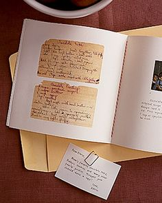When you want to preserve family recipes photograph the originals or scan them. Then place them into a book or something similar. Also organize recipes by family events like Thanksgiving etc. so that everyone knows what the traditions are for your family.