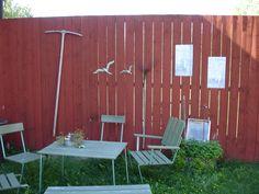 En rumsavdelare i trädgården