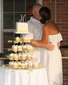 Beautiful Monogram Cupcake Wedding Tower