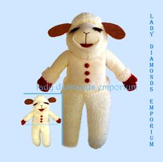 "Butterick 3719 Shari Lewis Lamb Chop & Friends 14"" Puppet and 16"" Doll Sheep…"