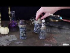 How to Make Spooky Witch's Jar/Bottle Potion Decorations. If you want some creative decorations this Halloween, try making your own witch's potions using items you have around the house. Not only are these decorations realistic and spooky, they will cost less than store-bought decorations.