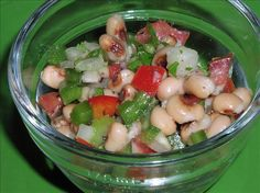Looks like a bean and veggie tangy salad!  I'll punt/kick with this pic as a guide!  ;-)