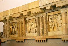 metopas del templo C de Selinunte (periodo arcaico)