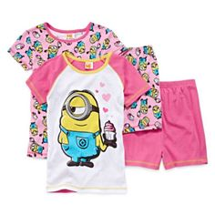 jcpenney | Despicable Me 4-pc. Pajama Set - Girls 4-10. Mother's,  if you have a daughter or niece who loves minions. You can get them this cute pj's. You can get them at jcpenney.  Thanks