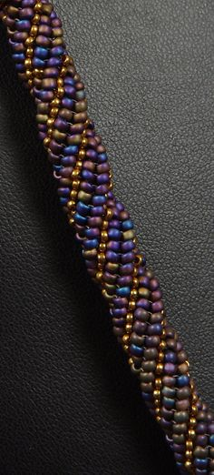 Beadwoven Necklace Tutorial Triple Twist Necklace by NEDbeads