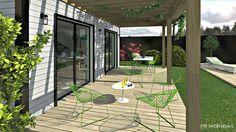 Terrasse aménagée et décorée par MJ Intérieurs