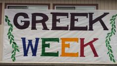 """AGHS Greek Week """"Clash of the Classes"""" banner. The most spirited week of the year and it all comes at the end of school!"""