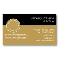 Notary public business card business cards business and extra money notary business cards reheart Choice Image