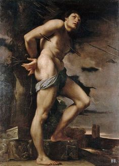 Lodovico Carracci. Italian. (1555-1619), San Sebastiano Olio su tela, XVI secolo.