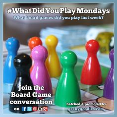 What Did You Play Mondays  :  What Board Games did you play this weekend and the previous week?  Please help grow awareness of the hobby and share this on your social media feeds using #WhatDidYouPlayMondays  Board Game in photo: Killer Bunnies and the Quest for the Magic Carrot Deluxe Limited Edition