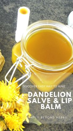 Natural Home Remedies The dandelion salve is suitable for people with cracked and dry skin. It heals really quickly and gives a pleasant moisturizing effect. Healing Herbs, Natural Healing, Natural Life, Natural Home Remedies, Herbal Remedies, Natural Medicine, Herbal Medicine, Dandelion Recipes, Salve Recipes