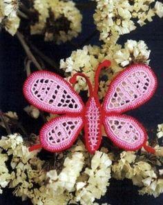 Butterfly Diagram Patterns.  crochet-plaisir.over-blog.com