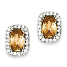 Orange Oval Shape Cubic Zirconia Earrings in Sterling Silver Friction Buy and sell on buyerxpo.com