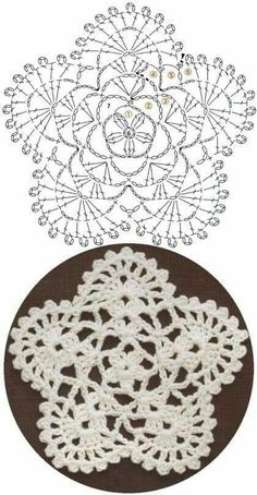 Here's a nice little crochet chart pattern from Sugar_LYS found on a…Pretty little doily; Photo pinned to my crochet boardMingky Tinky Tiger + the Biddle Diddle Dee: Photo Crochet Coaster Pattern, Crochet Snowflake Pattern, Crochet Motif Patterns, Crochet Snowflakes, Crochet Diagram, Crochet Chart, Filet Crochet, Mandala Au Crochet, Crochet Circles