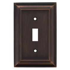 Lowes $6.97 allen   roth�1-Gang Oil Rubbed Bronze Standard Toggle Metal Wall Plate