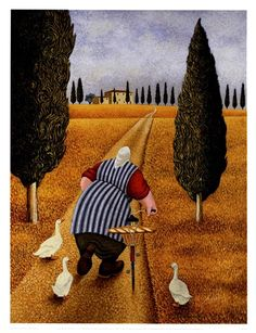 'Lady With Fresh Bread' ~ Lowell Herrero