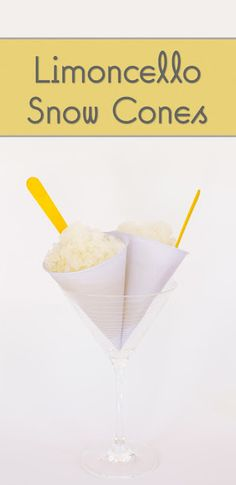 Limoncello Snow Cones via @cupcakeproject
