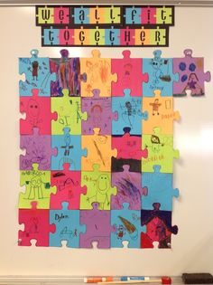 giant puzzle for getting-to-know your speech therapy students
