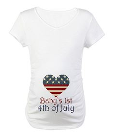 Take a look at this White Babys 1st 4th of July Maternity Tee by CafePress  on 55f27551a