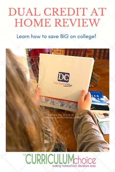 This program was designed by a fellow homeschool family with a proven record of dual credit success – at home. You can design the journey specifically for each of your students. Take the exams on your schedule. Take a look at ALL that is included in the Dual Credit at Home Study Plans package and learn how to save BIG on college. And don't miss the special discount code! Review by Tricia at The Curriculum Choice. High School Curriculum, Homeschool Curriculum Reviews, Art Curriculum, Homeschooling, High School Credits, Study Plans, Business Ethics, Learning Styles