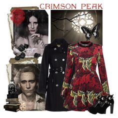 """""""Indulge Your Dark Side with Crimson Peak : Contest Entry"""" by elizabethcarter ❤ liked on Polyvore featuring MICHAEL Michael Kors, Marc by Marc Jacobs, Jeffrey Campbell and vintage"""