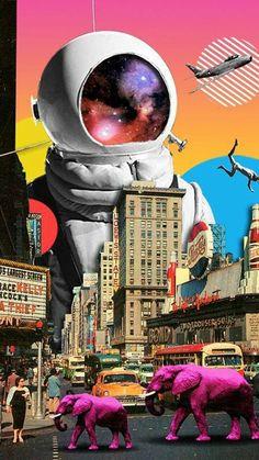49 Ideas for digital collage art design Collage Kunst, Art Du Collage, Poster Collage, Collage Artists, Collage Design, Digital Collage, Art Collages, Collage Illustrations, Dada Collage