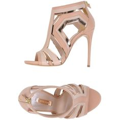 Casadei Sandals (11,340 MXN) ❤ liked on Polyvore featuring shoes, sandals, pastel pink, leather shoes, zipper shoes, pink shoes, pink sandals and leather sole shoes