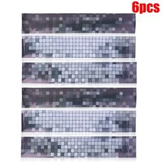 Mosaic Wall Stickers Decoration Backsplash Tiles for Kitchen Home Room Decoration for Bedroom,Living Room,Kitchen Prime(Black) Mosaic Tiles Backsplash, Backsplash Cheap, Rustic Backsplash, Quartz Backsplash, Black Backsplash, Beadboard Backsplash, Herringbone Backsplash, Mosaic Wall, Kitchen Tiles