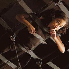 Rue stealing Cato's knife during the Hunger Games training. :)