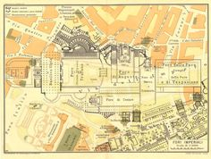 Imperial Fora Vintage Map City Plan 1933