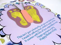 Butterfly foot with poem
